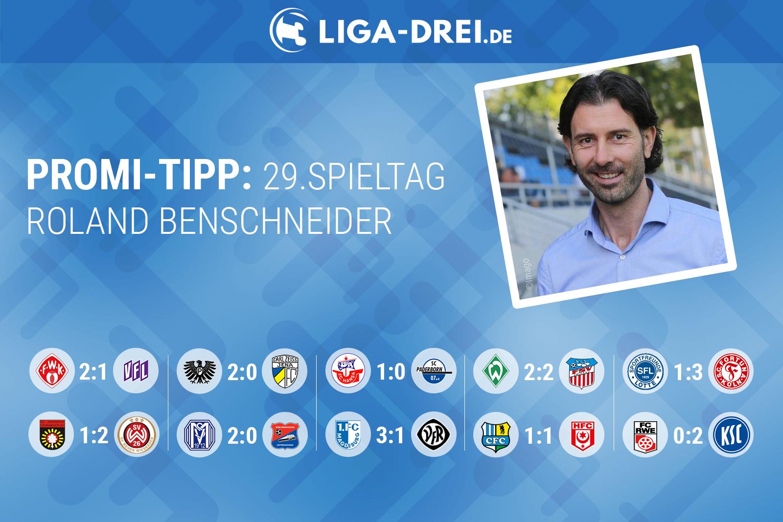 Roland Benschneider tippt den 29. Spieltag