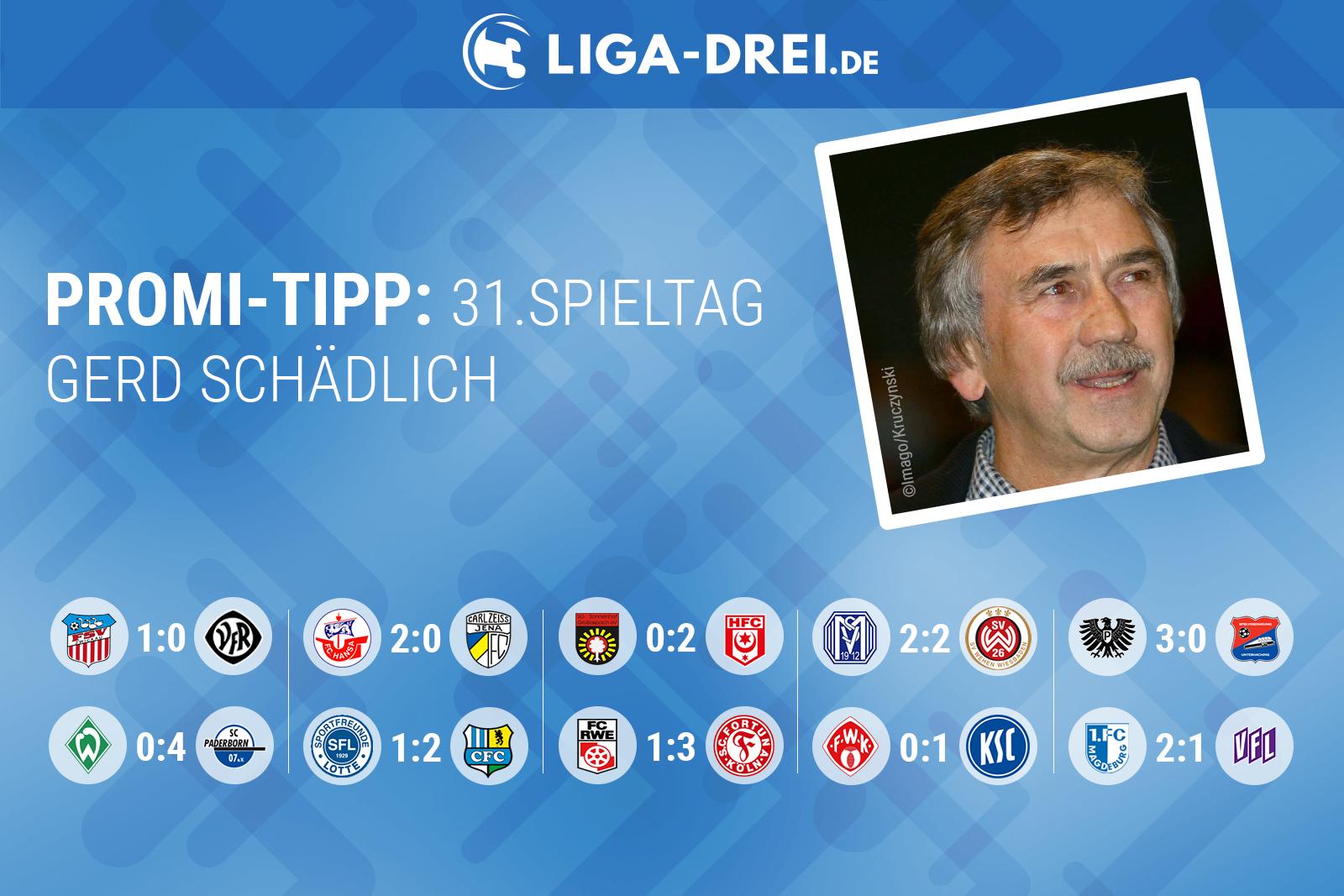 Gerd Schädlich tippt den 31. Spieltag