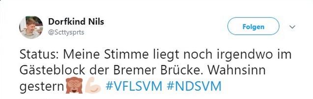 Tweet zu VfL Osnabrück gegen SV Meppen