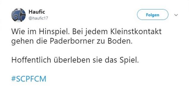Tweet zu SC Paderborn gegen den 1. FC Magdeburg
