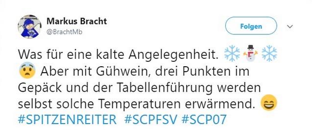 Tweet zu SC Paderborn gegen FSV Zwickau