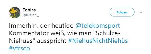 Tweet zu VfR Aalen gegen Preußen Münster