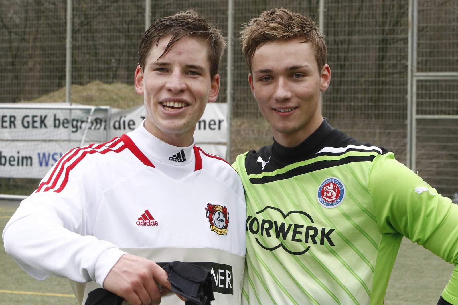 Kolja Pusch von Leverkusen & Tim Boss von Fortuna Köln