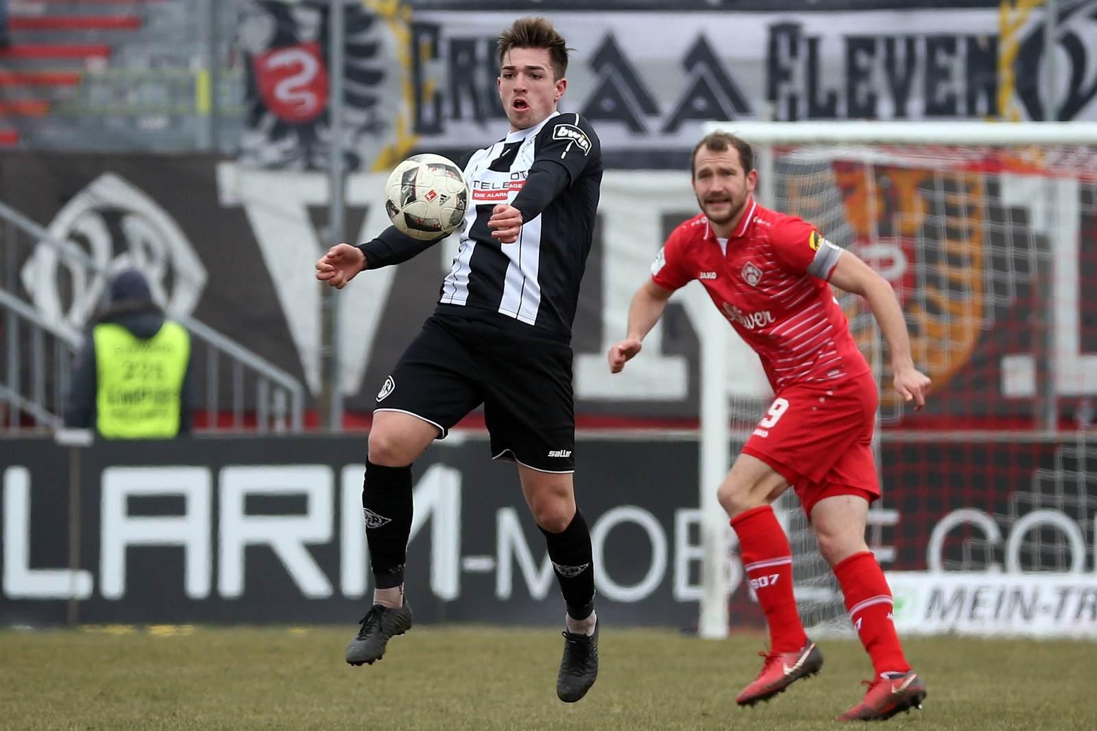 Luca Schnellbacher vom VfR Aalen.