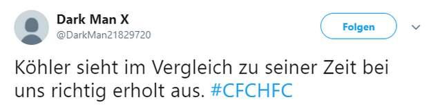 Tweet zu Chemnitz vs Halle