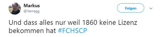 Tweet zu Hansa vs Paderborn