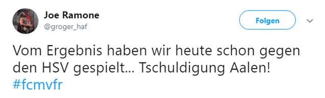 Tweet zu Magdeburg vs Aalen