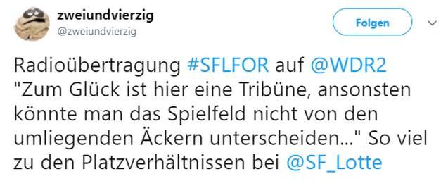 Tweet zu Lotte vs Fortuna