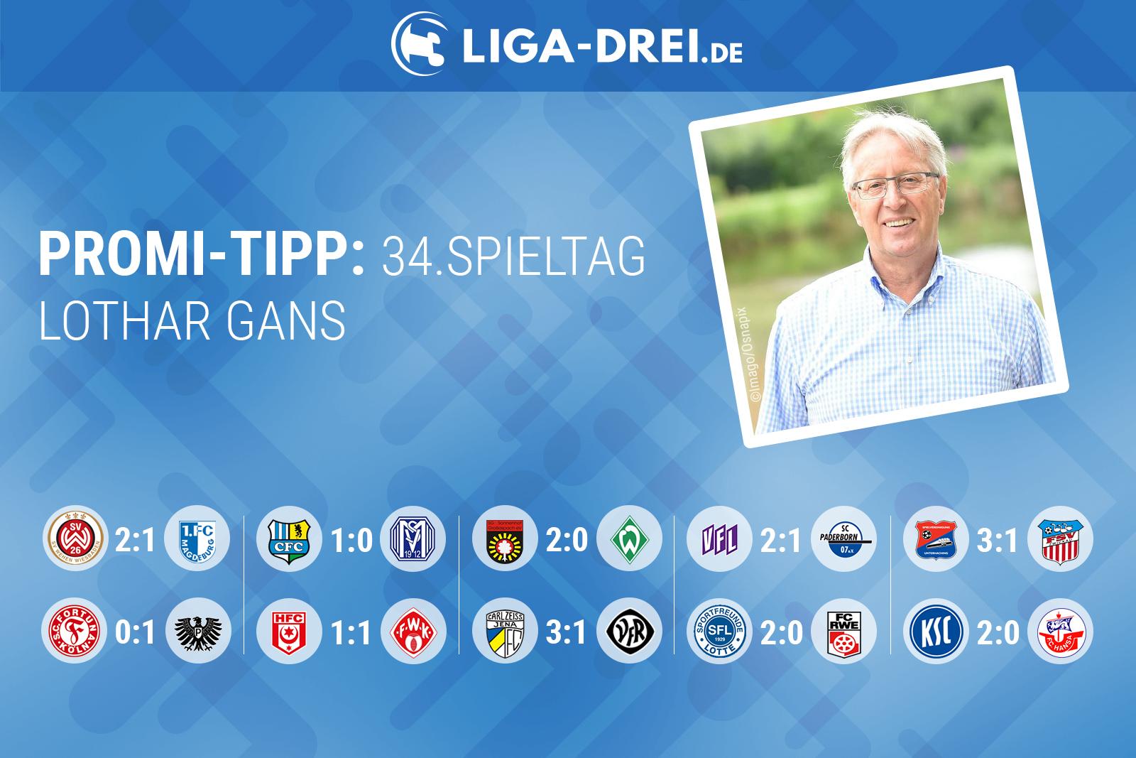 Lothar Gans tippt den 34. Spieltag