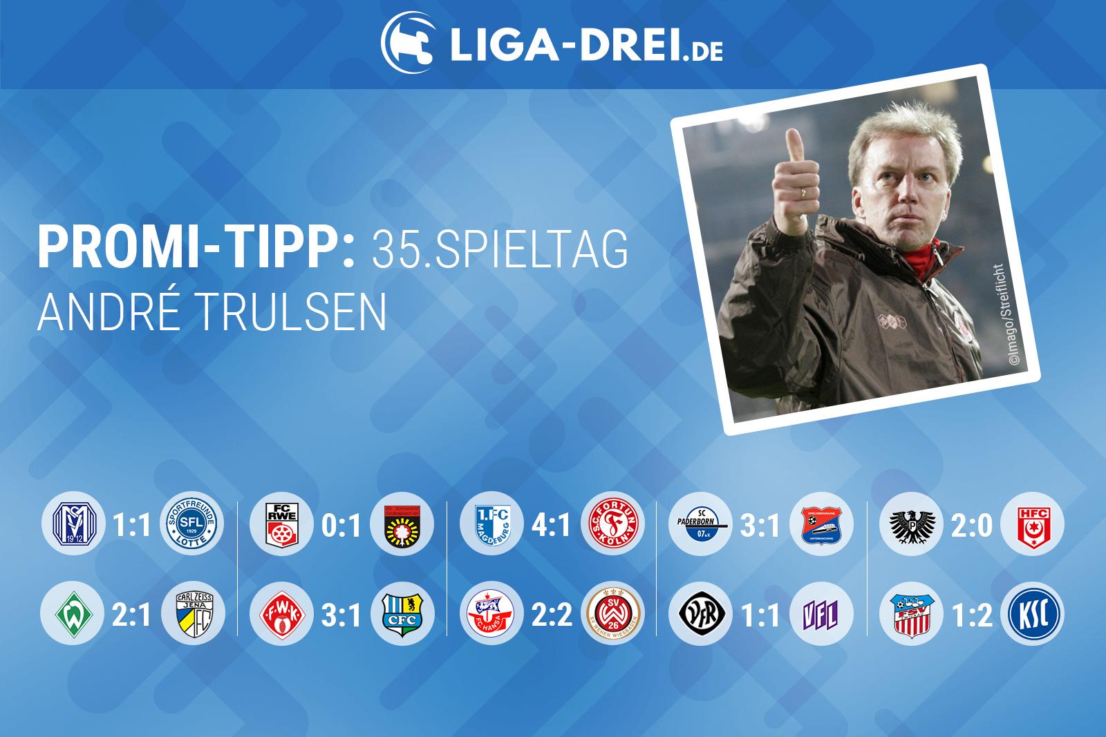 André Trulsen tippt die 3. Liga