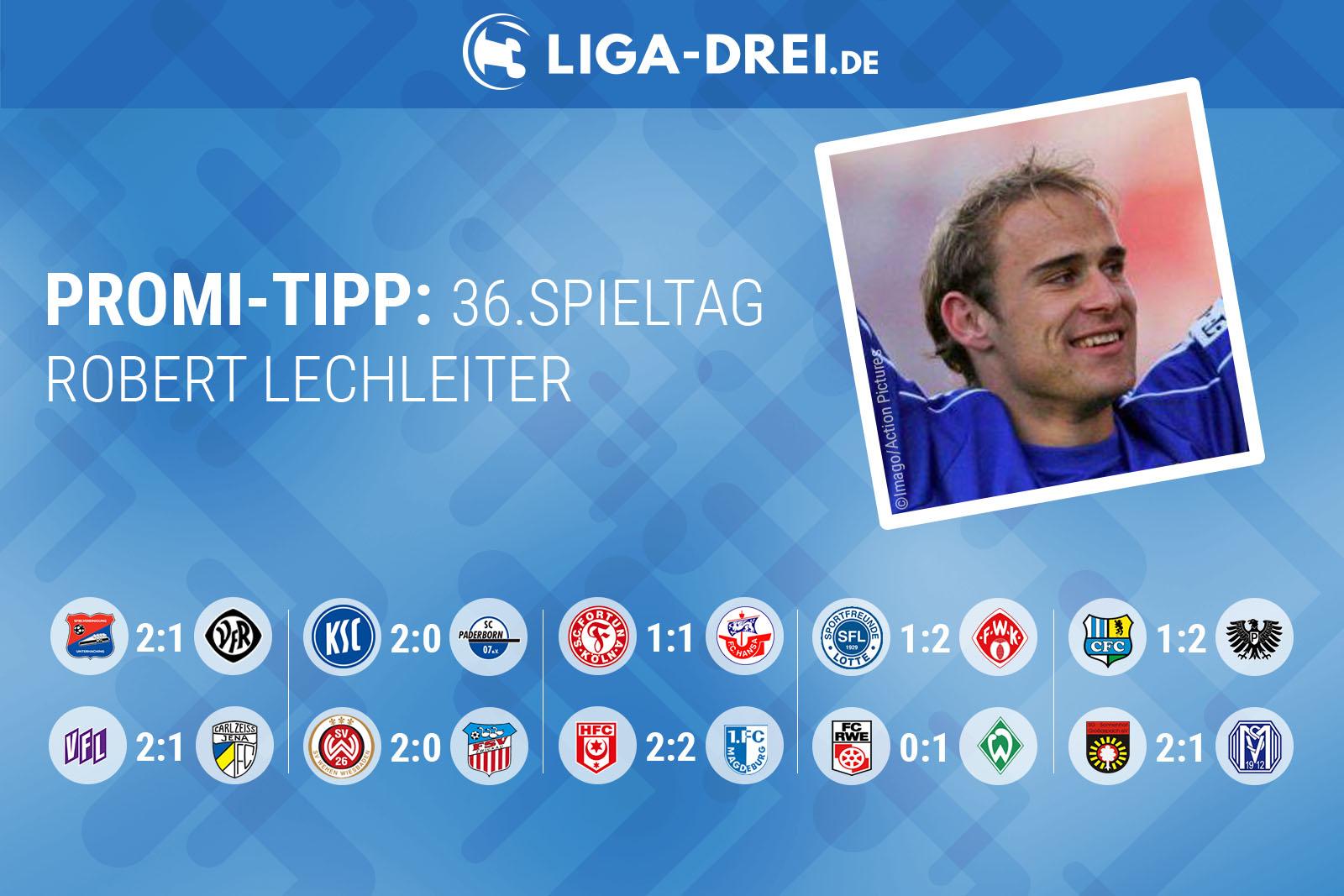 Robert Lechleiter tippt den 36. Spieltag der 3. Liga