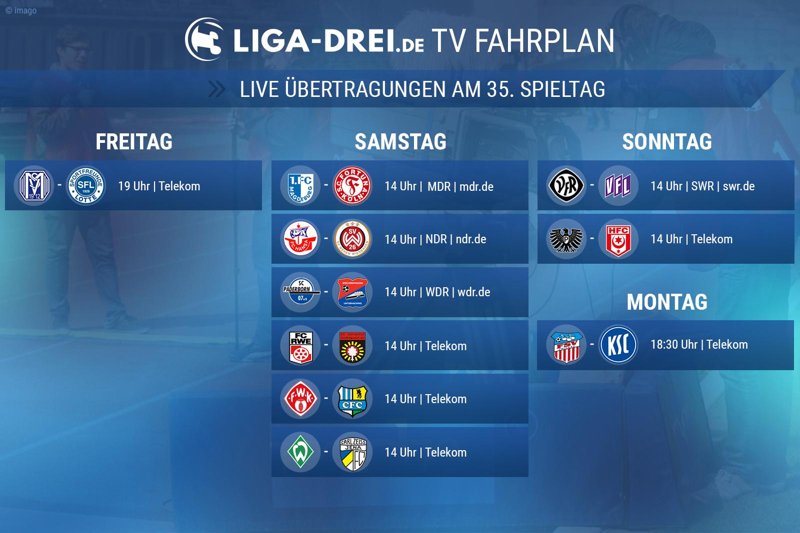 Livespiele der 3. Liga im Free-TV