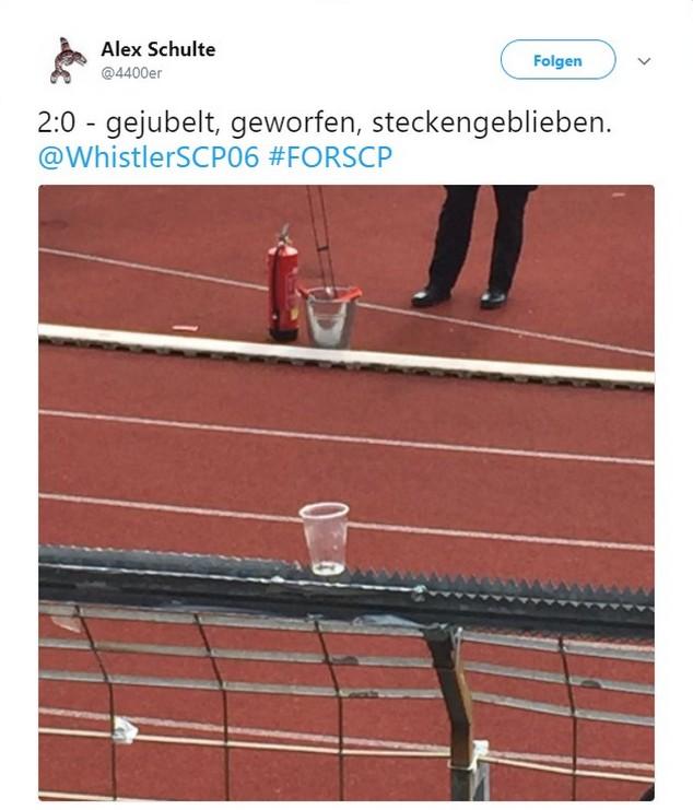 Tweet zu Fortuna Köln gegen Preußen Münster