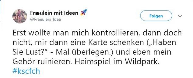 Tweet zu Karlsruher SC gegen Hansa Rostock