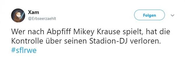 Tweet zu Sportfreunde Lotte gegen Rot-Weiß Erfurt