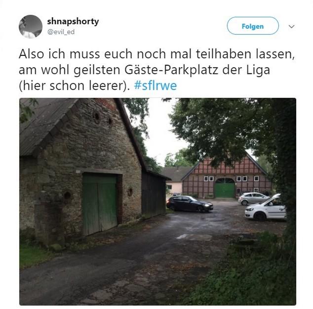 Tweet zu Sportfreund Lotte gegen Rot-Weiß Erfurt