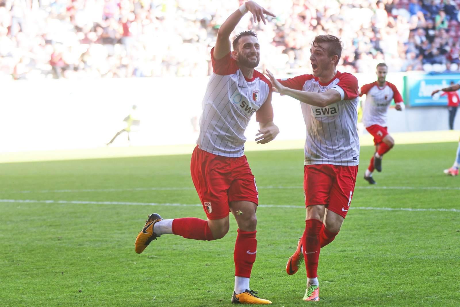 Efkan Bekiroglu jubelt nach Tor für Augsburg U23