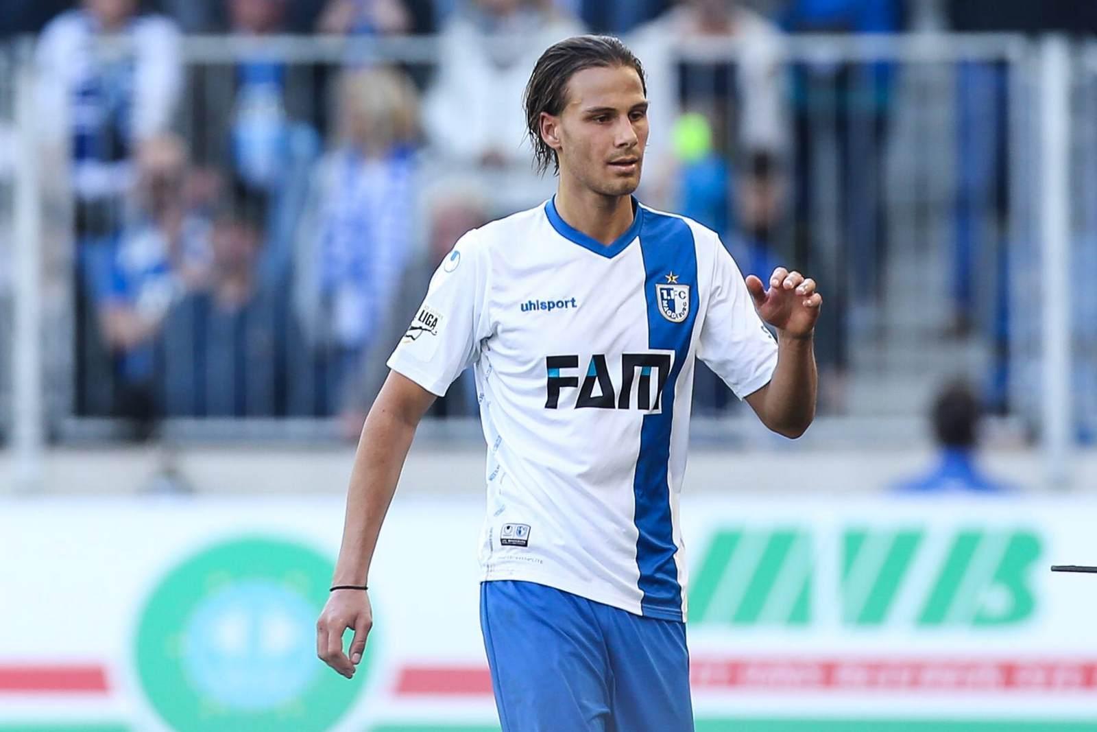 Tobias Schwede im Trikot des 1. FC Magdeburg