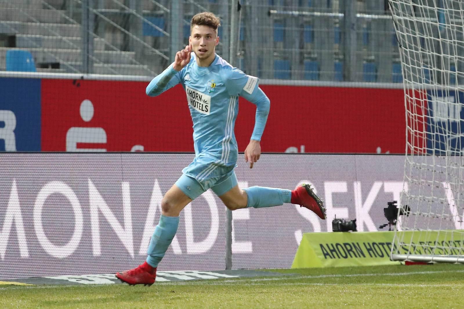 Tom Baumgart vom Chemnitzer FC