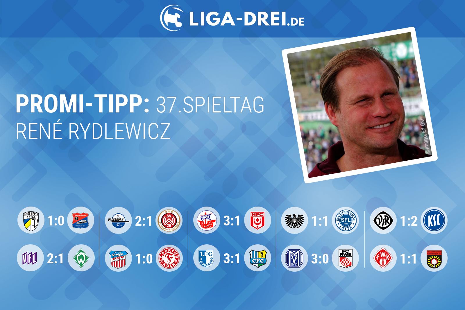 René Rydlewicz beim Liga-Drei.de Promi Tipp