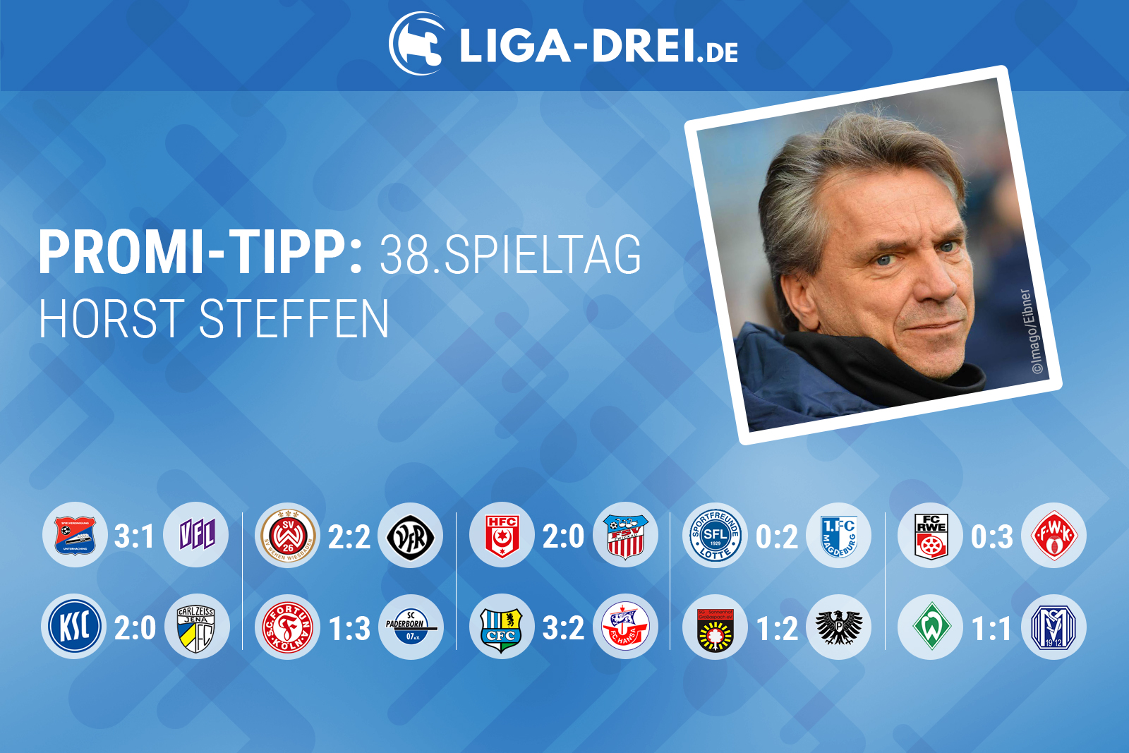 Horst Steffen tippt den 38. Spieltag