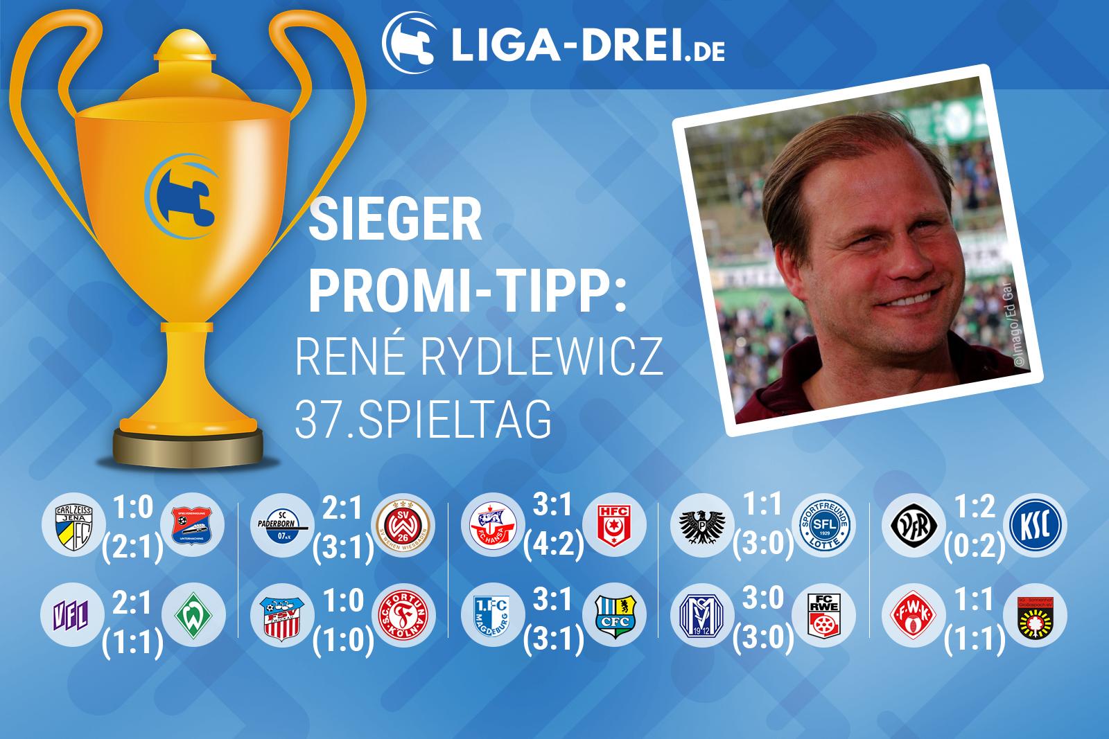 René Rydlewicu gewinnt beim Liga-Drei.de Promi Tipp