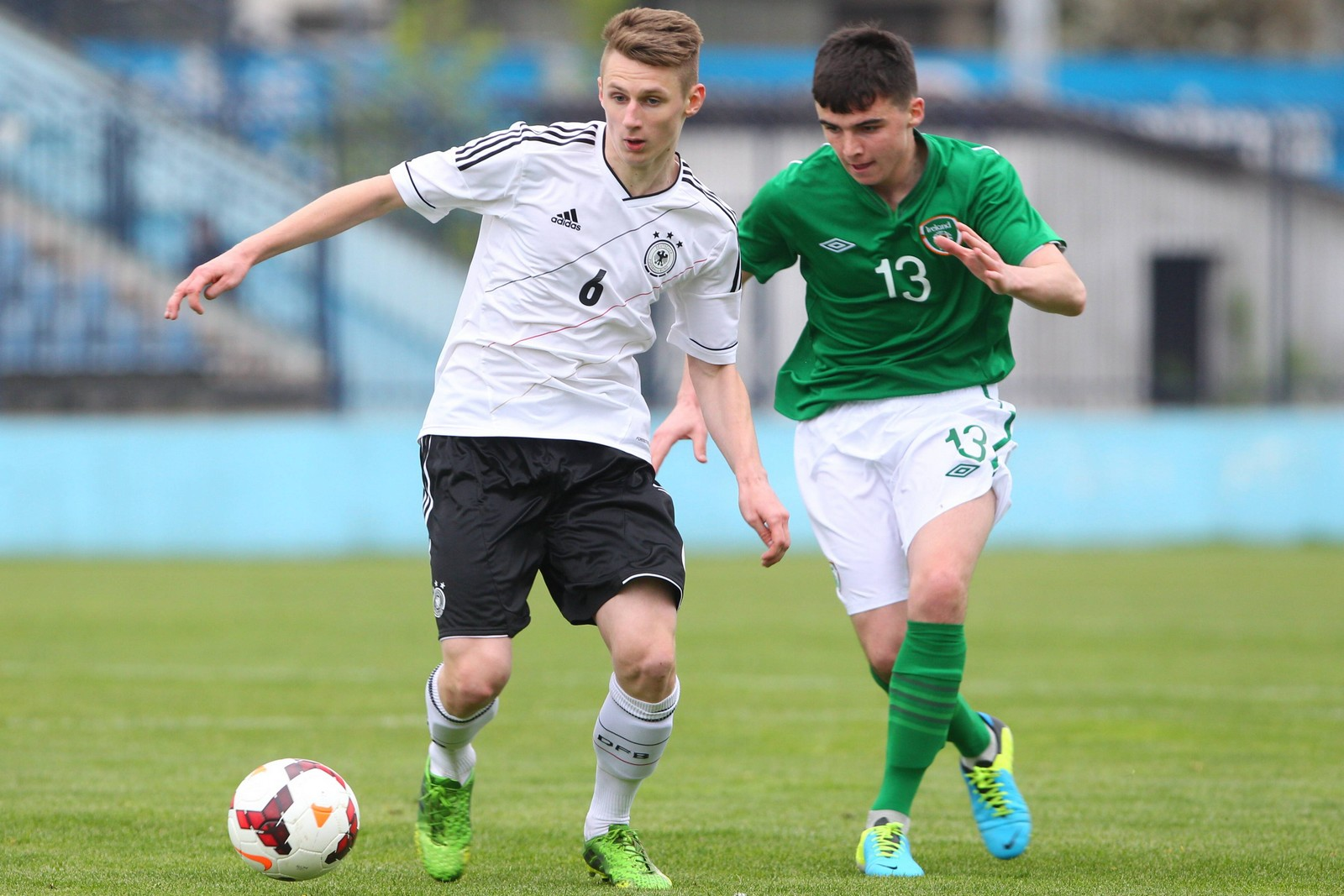Damir Bektic im Einsatz für die deutsche U17 Nationalmannschaft