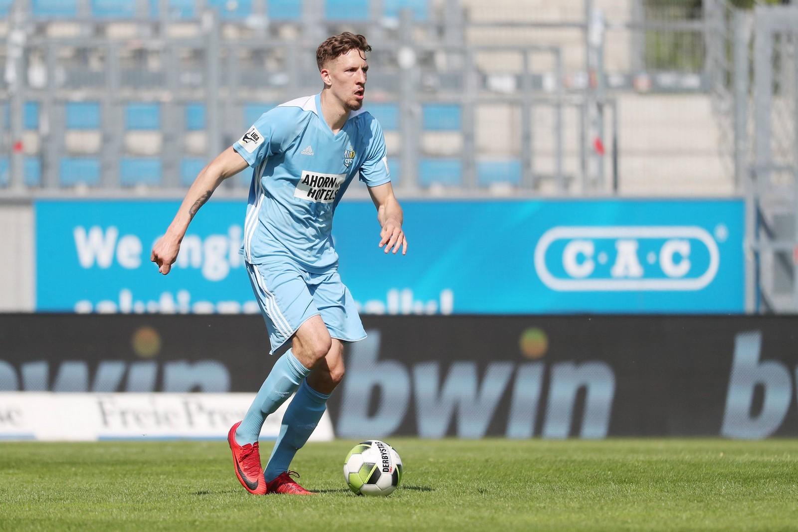 Janik Bachmann im Trikot des chemnitzer FC