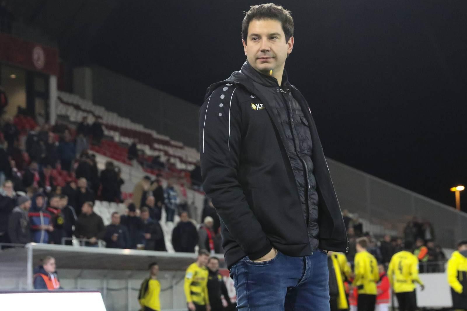Argirios Giannikis ist Trainer beim VfR Aalen