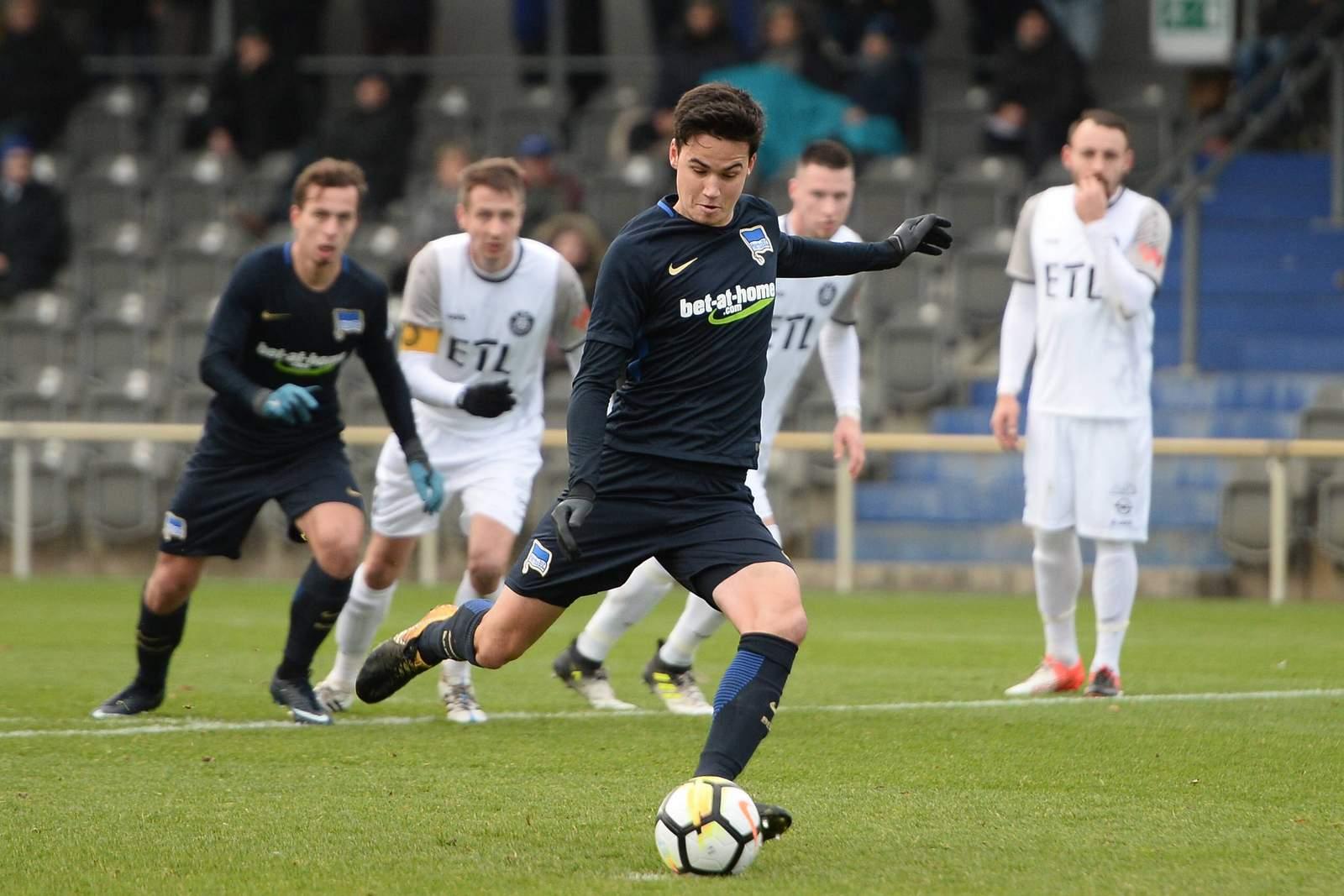 Maik Haubitz trifft per Elfmeter für Hertha U23