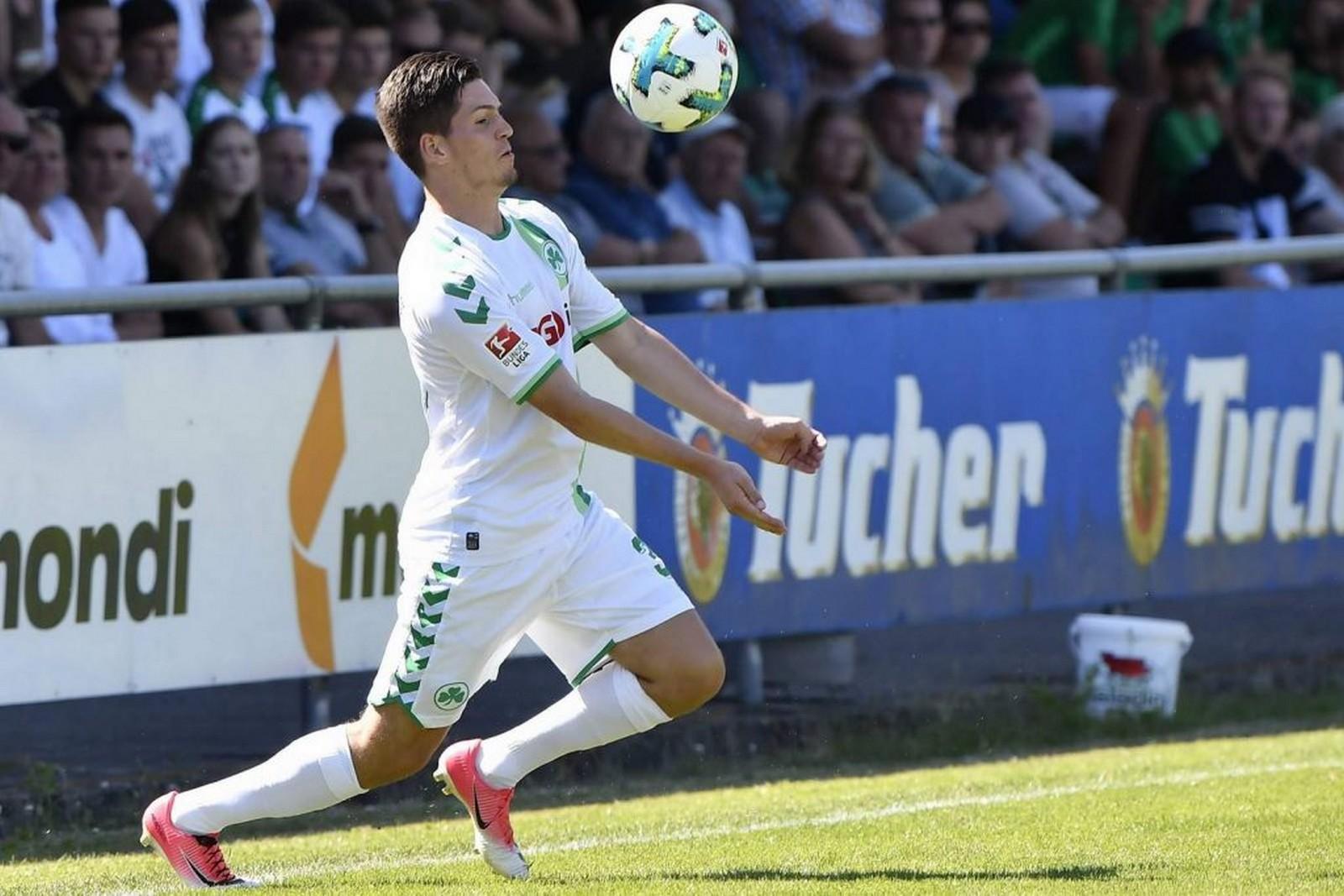 Dominik Schad im Einsatz für Greuther Fürth