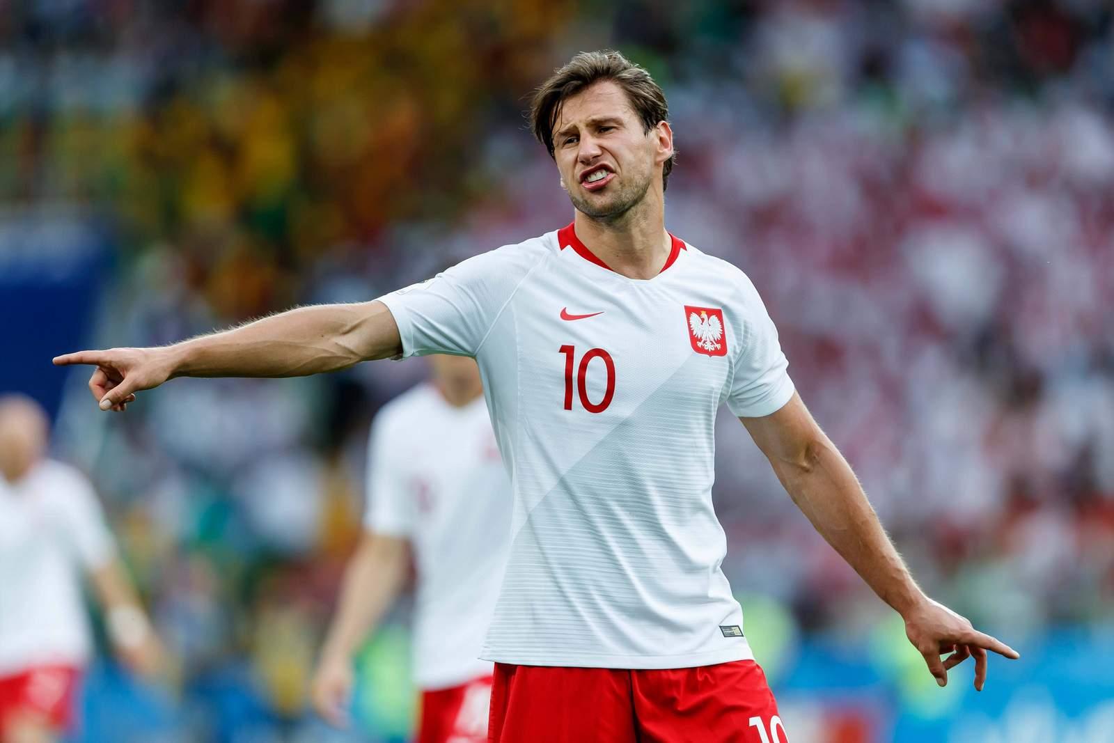 Grzegorz Krychowiak gibt Anweisungen. Jetzt auf Polen gegen Kolumbien wetten.