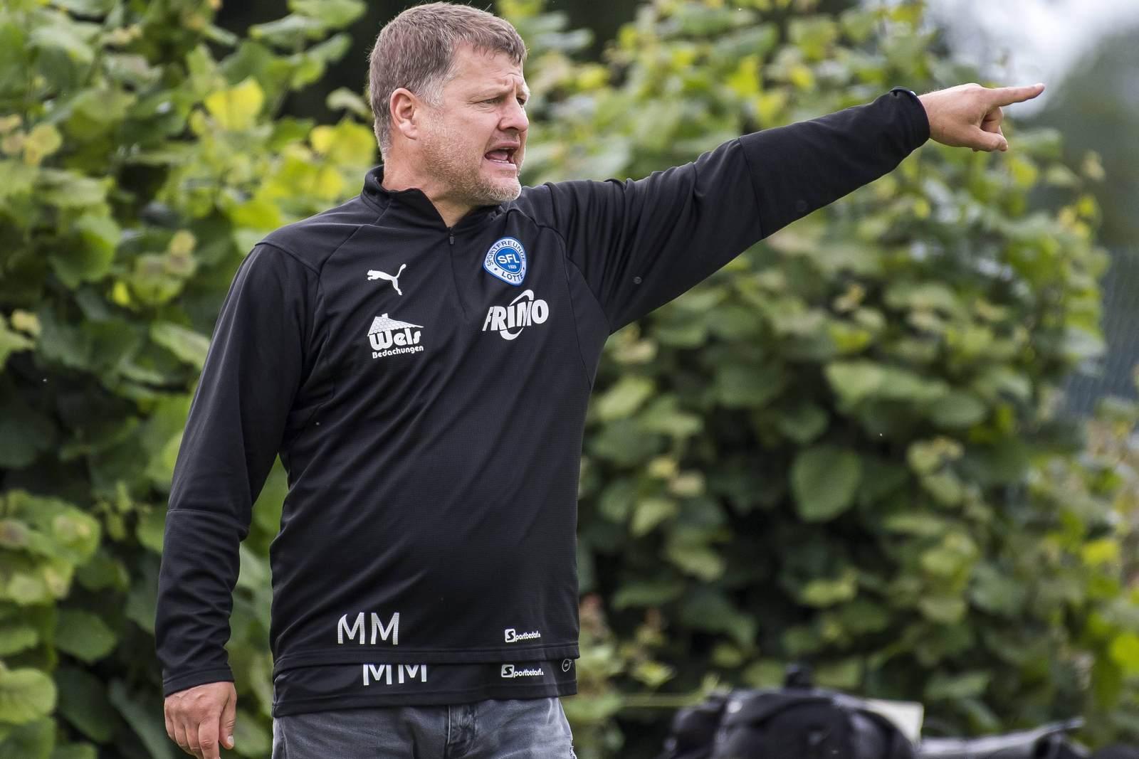 Überraschungen für Spieler: Lottes Trainer Matthias Maucksch