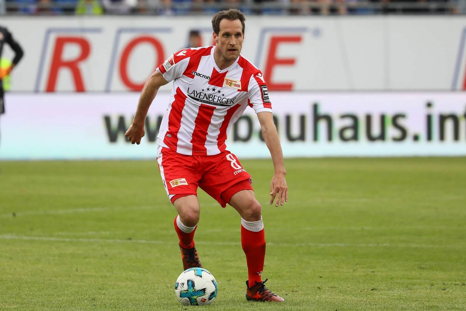 Stephan Fürstner am Ball für Union Berlin