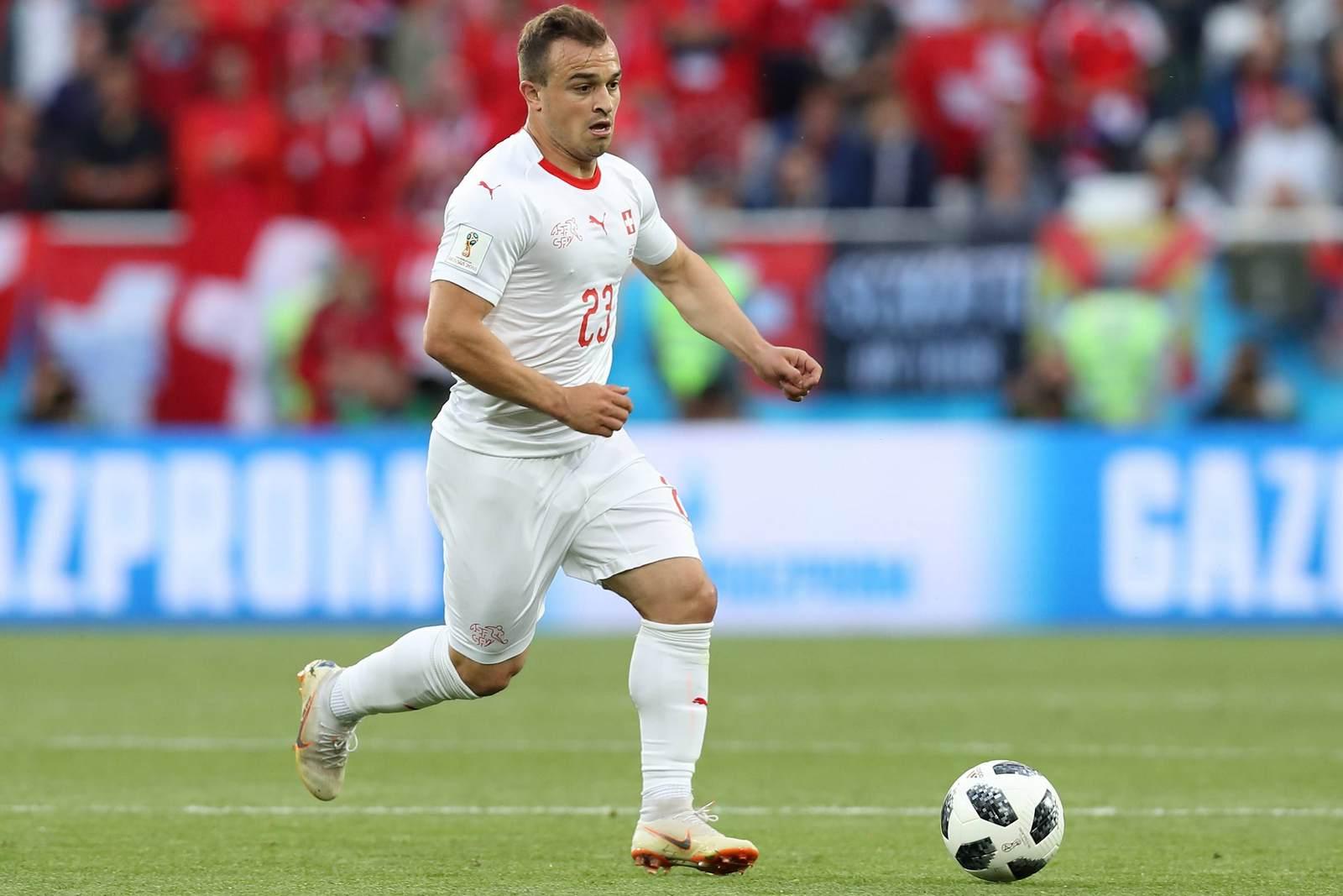 Xherdan Shaqiri am Ball für die Schweiz. Jetzt auf die Partie Schweiz gegen Costa Rica wetten.