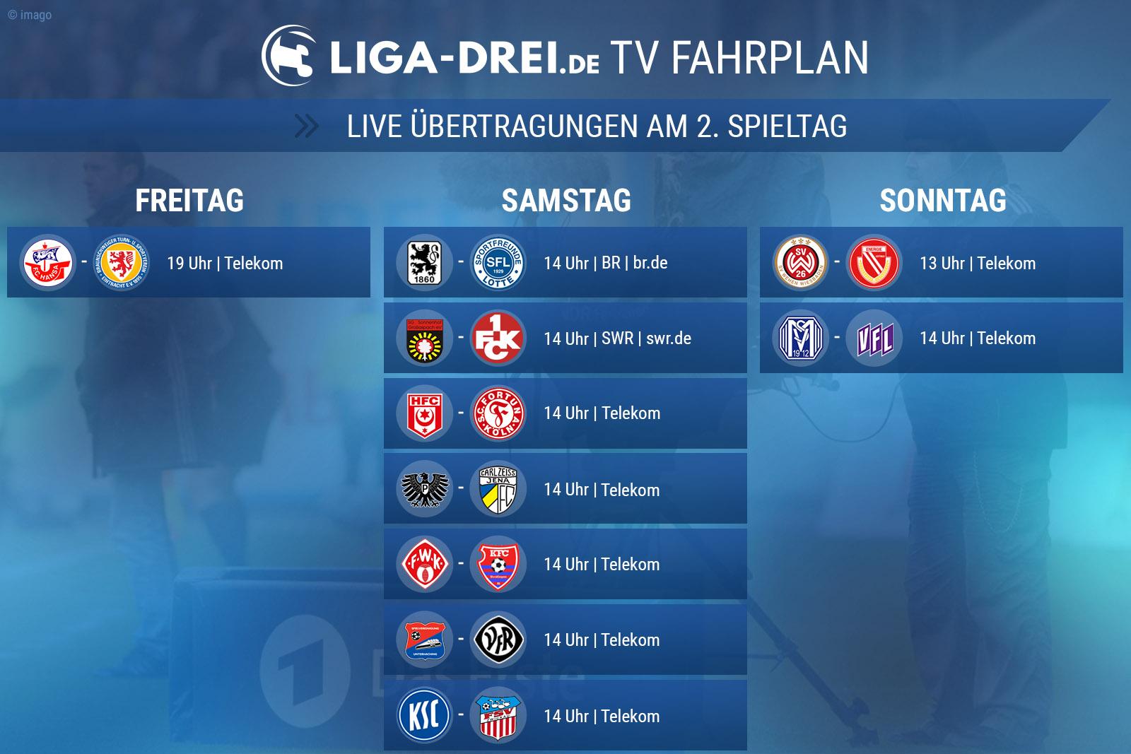 TV Plan am 2. Spieltag