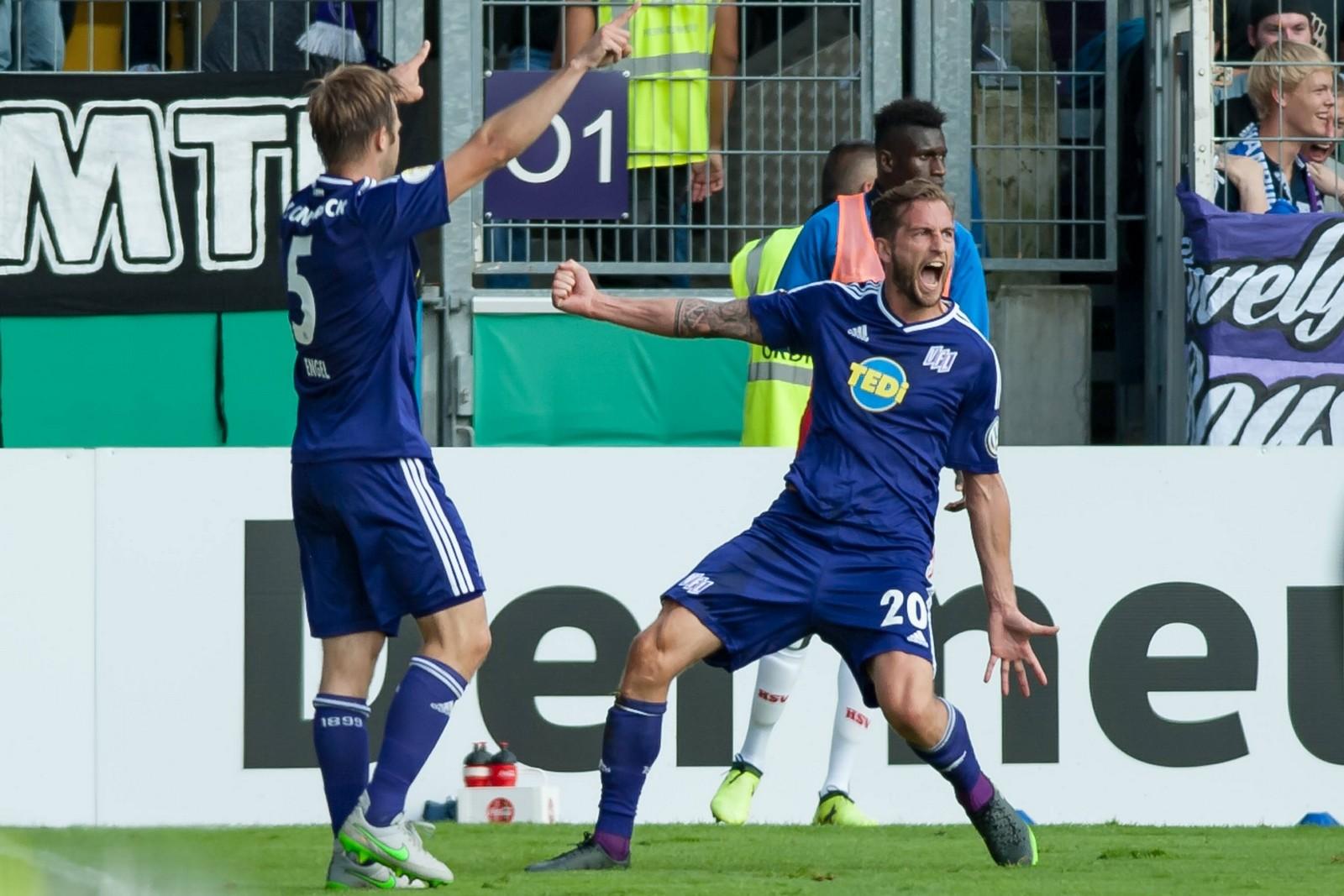 Marc Heider beim Torjubel für den VfL Osnabrück