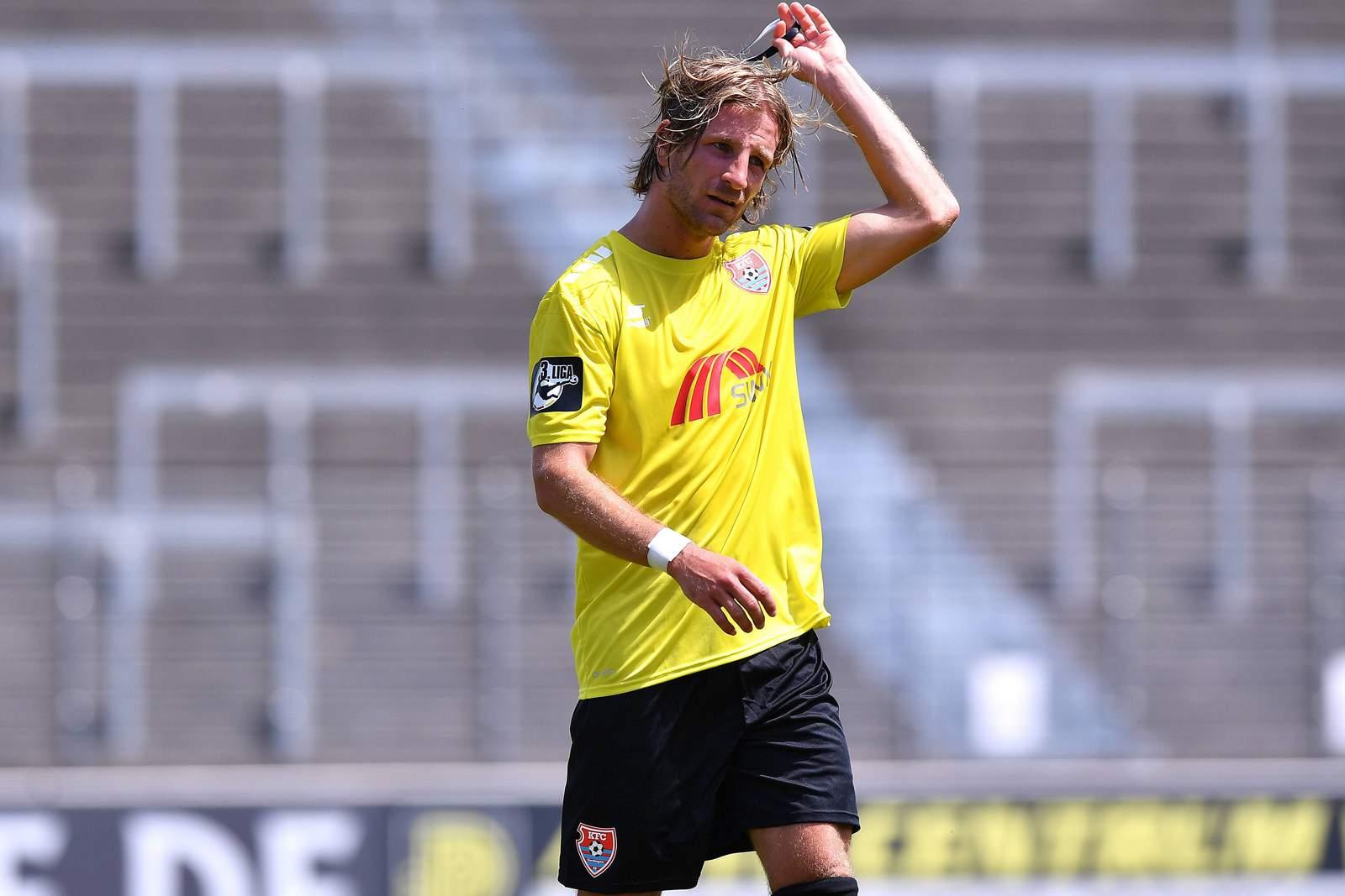 Stefan Aigner vom KFC Uerdingen nach Testspiel