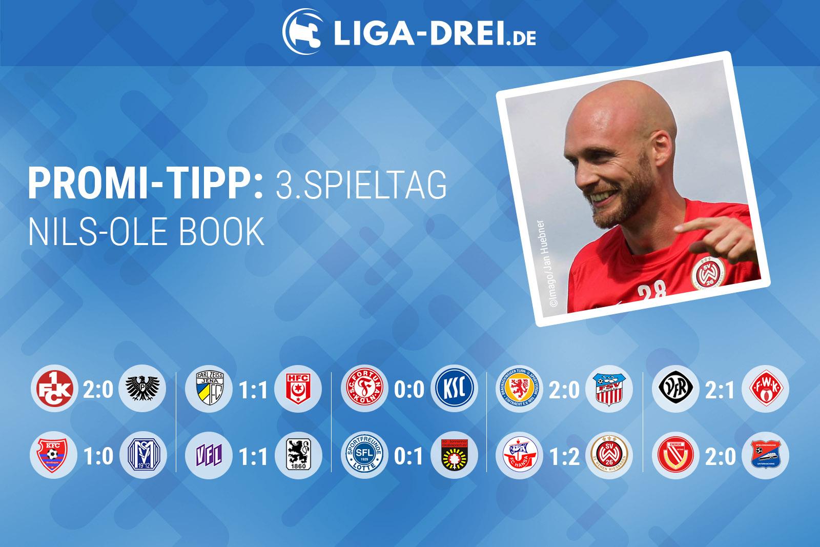 Nils-Ole Book beim Promi-Tipp von Liga-Drei.de