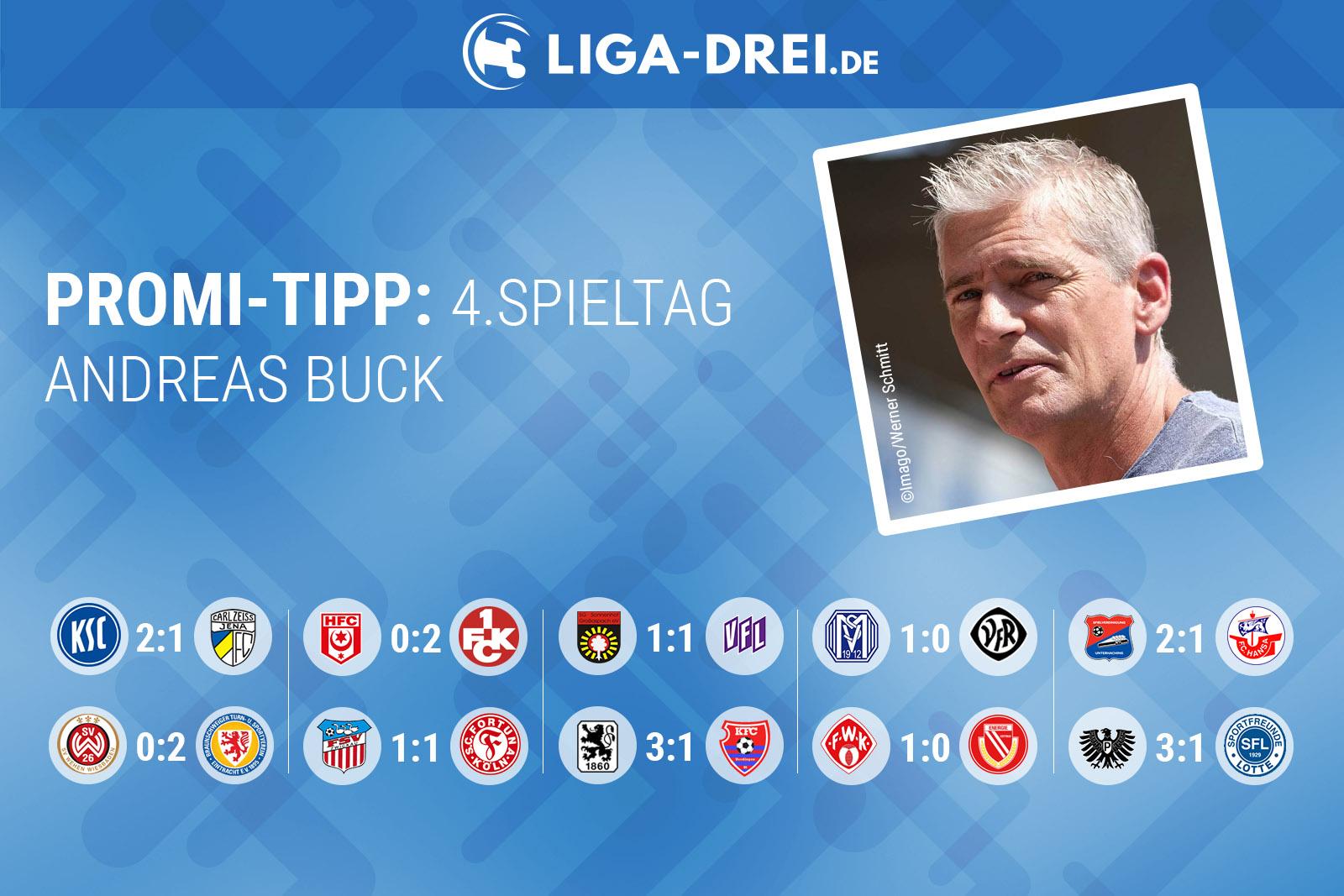 Andreas Buck beim Promi-Tipp von Liga-Drei.de