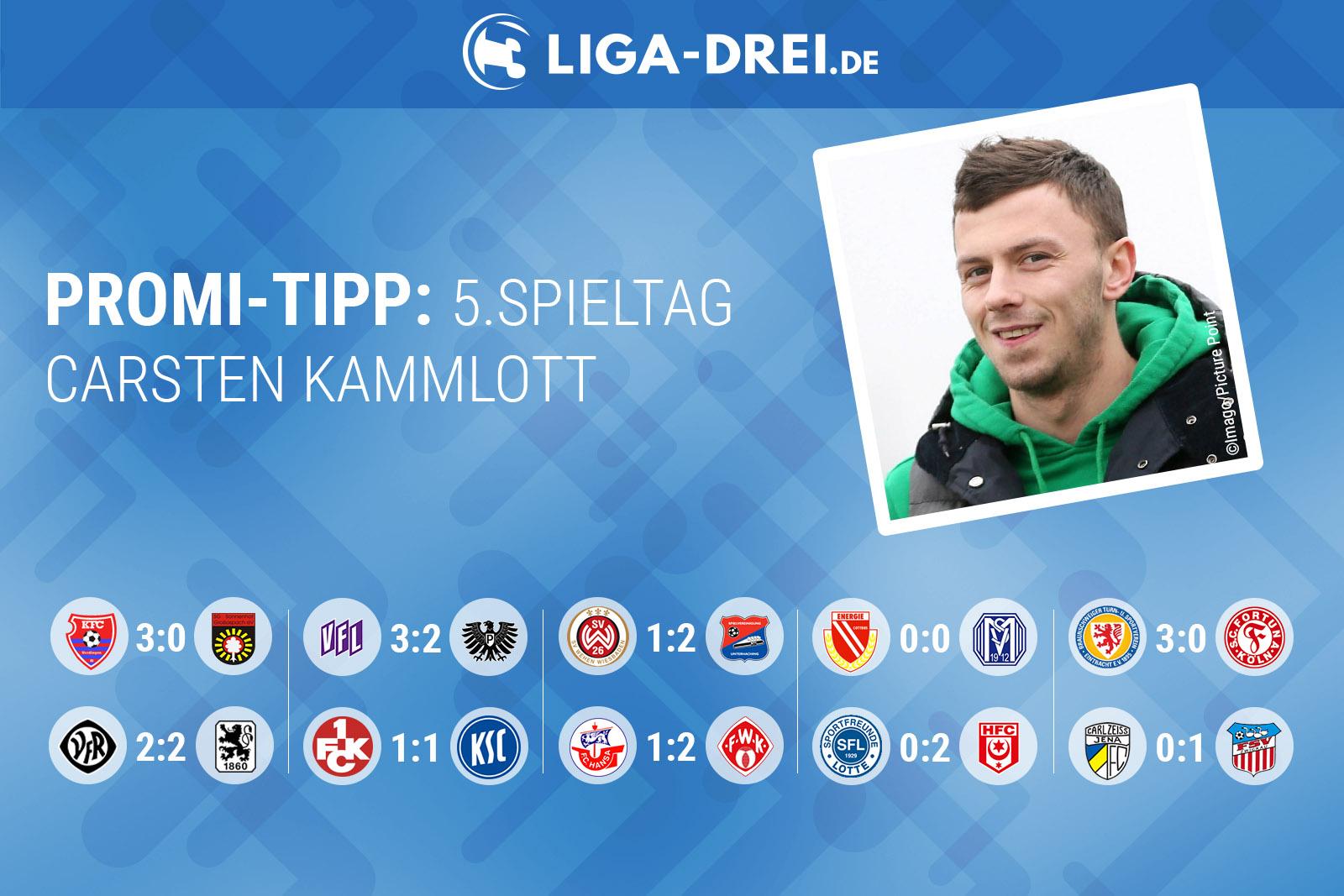 Carsten Kammlott beim Promi-Tipp von Liga-Drei.de
