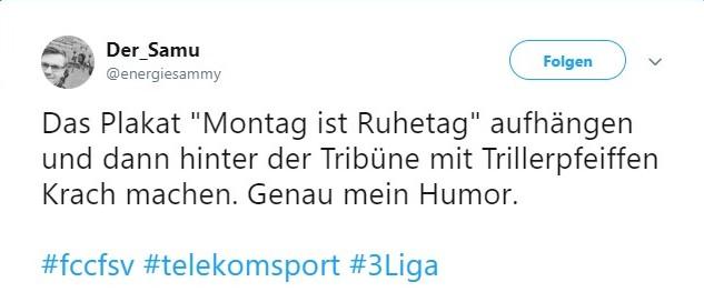 Tweet zu Carl Zeiss Jena vs FSV Zwickau