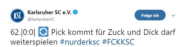 Tweet zu 1. FC Kaiserslautern vs Karlsruher SC