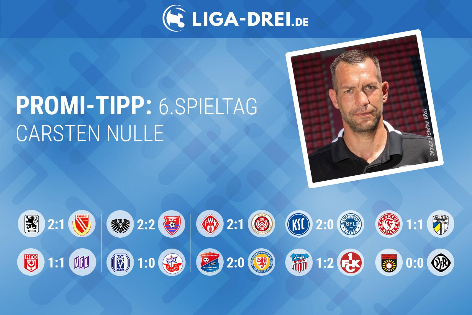 Carsten Nulle beim Promi-Tipp von Liga-Drei.de