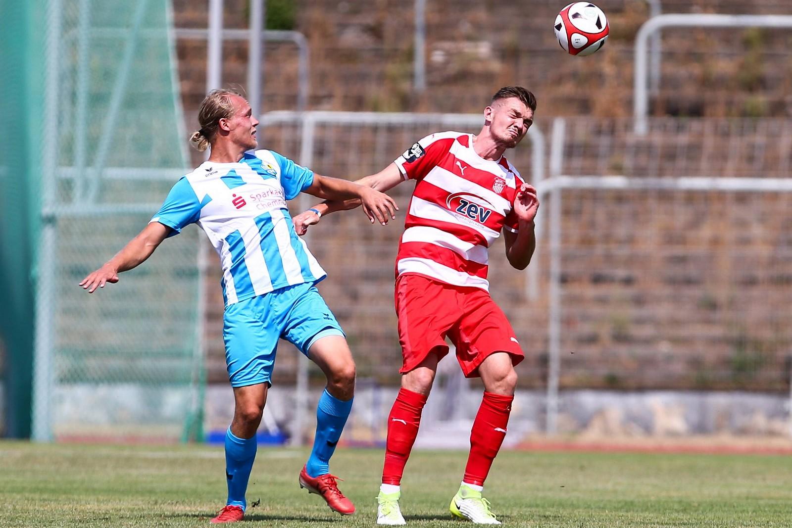 Alexander Sorge im testspiel gegen den Chemnitzer FC