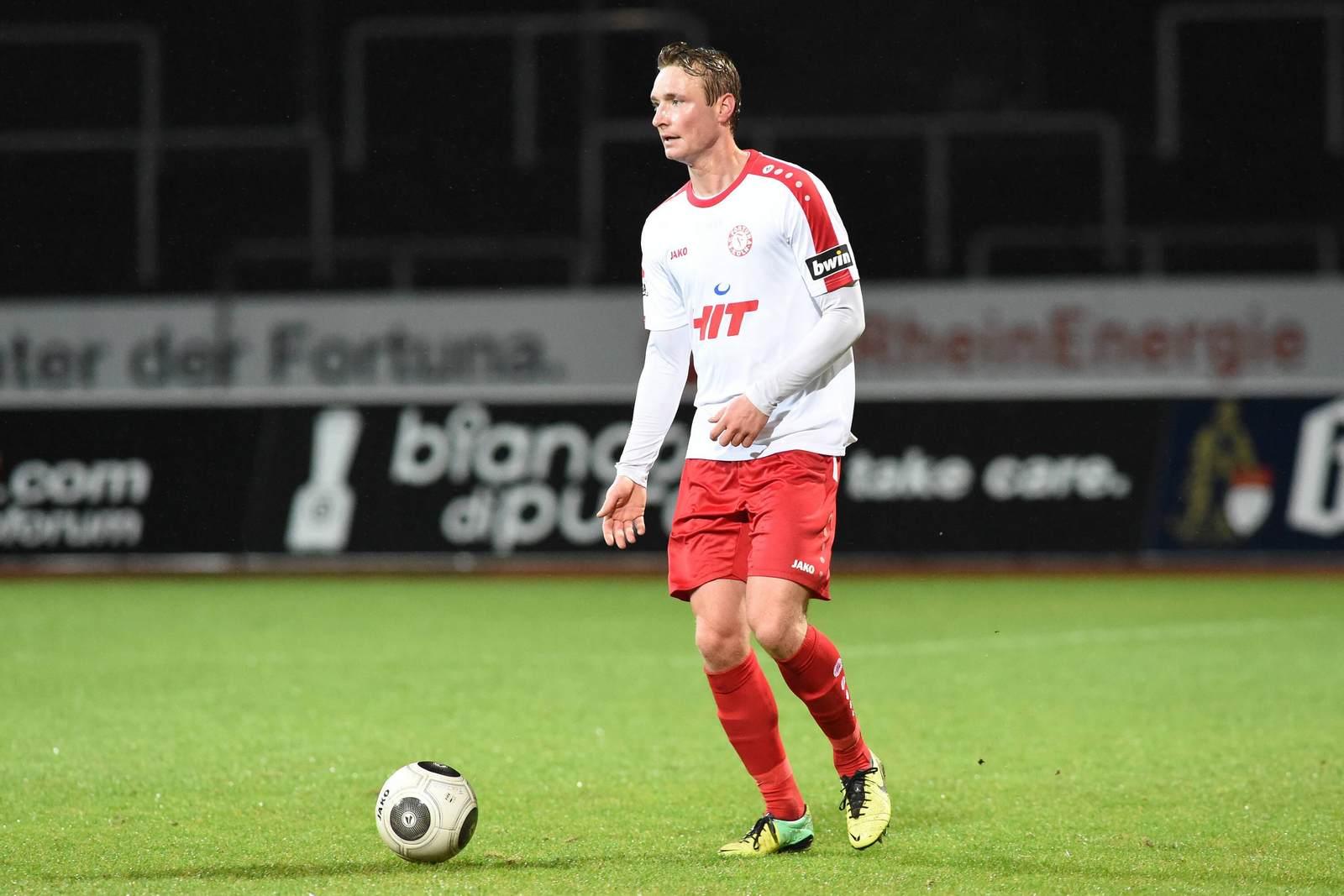 Christoph Menz am Ball für Fortuna Köln.