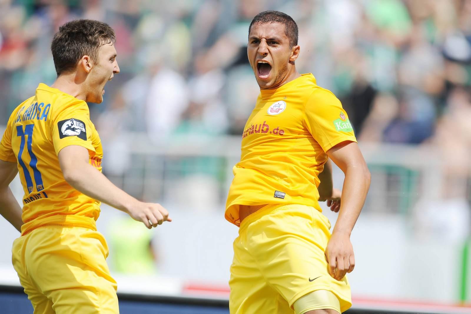 Halil Savran jubelt für Hansa Rostock