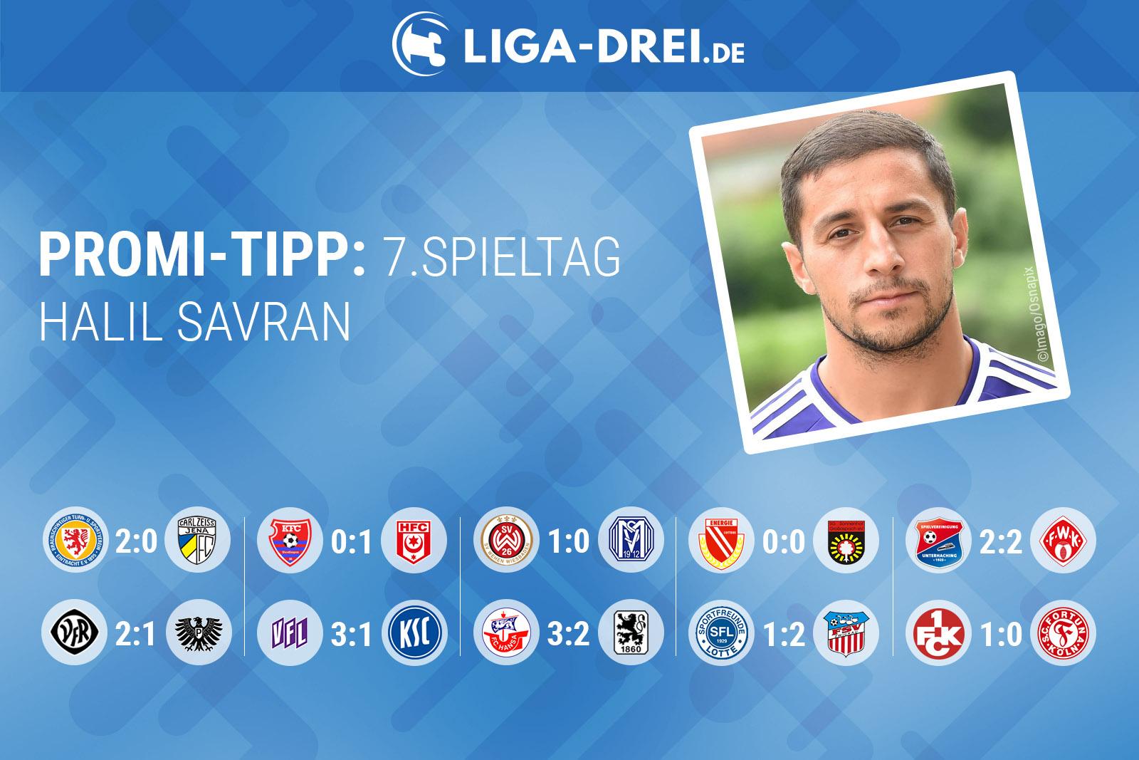 Halil Savran beim Promi-Tipp von Liga-Drei.de