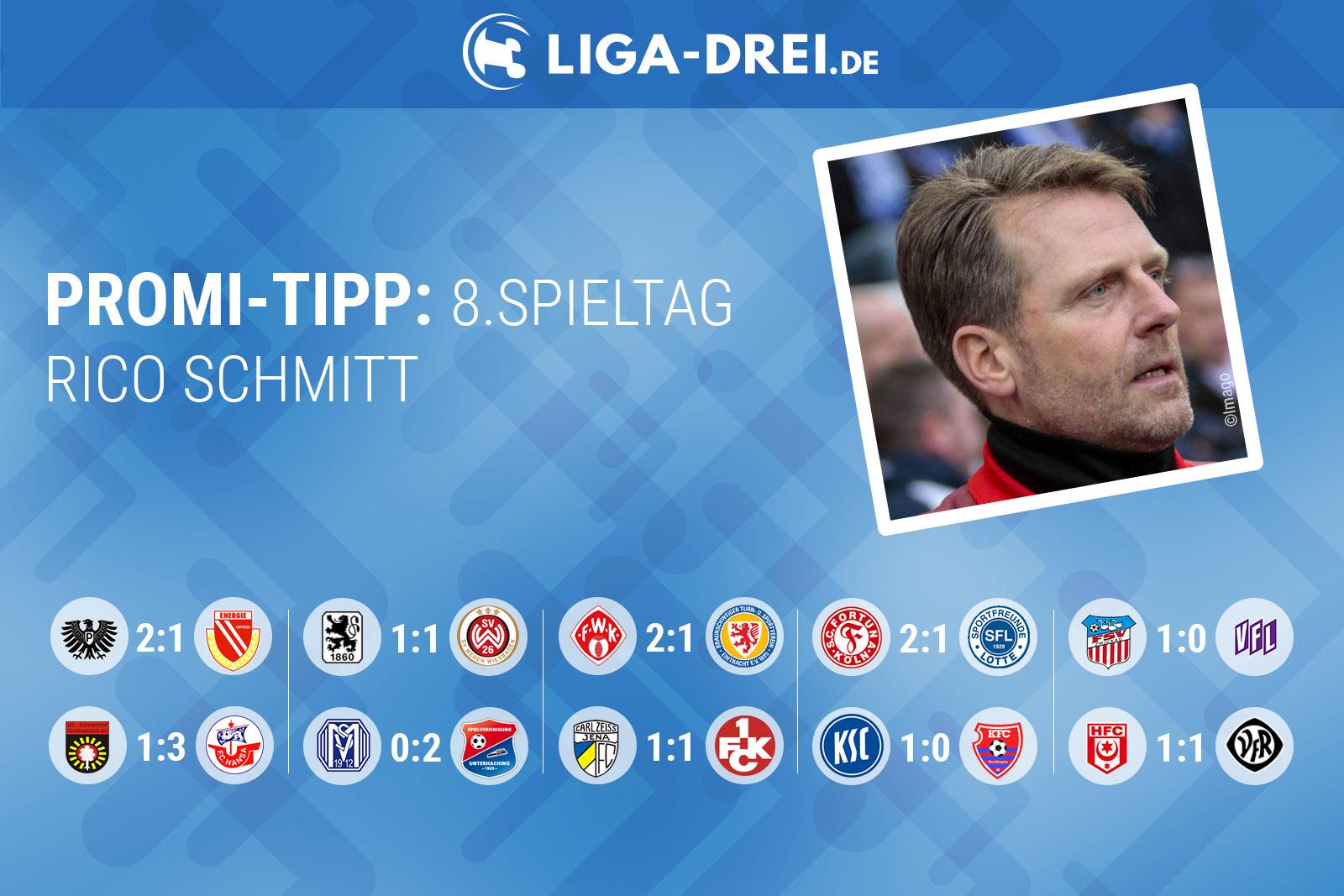 Rico Schmitt beim Promi-Tipp von Liga-Drei.de