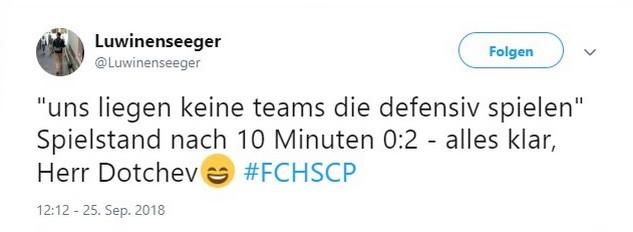 Tweet zu Hansa Rostock gegen Preußen Münster